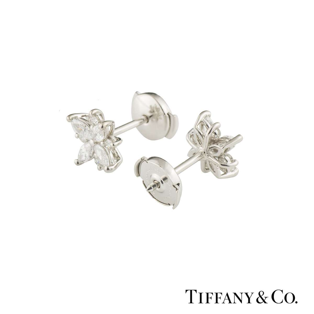 Tiffany & Co. Victoria Cluster Diamond Earrings